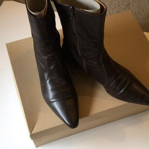 JCrew ankle boots in brown